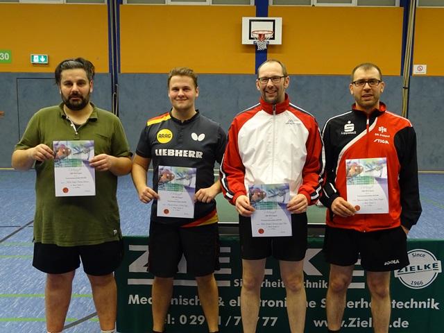 Mixed-Doppel-A Volker Kopp und Florian Ganser (2.), Andre Kemper und Jeronimo Lopez-Chao (1.)