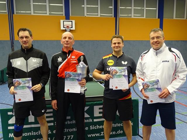 Herren-A-Einzel Ingo Weddemann (2.), Alfred Strunz (1.), Florian Ganser (3.), Thorsten Schmidt (3.)