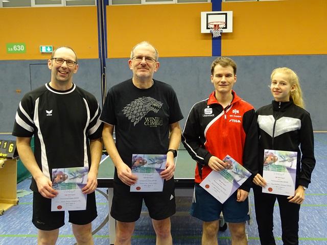 Mixed-Doppel-B Andre Kemper, Manfred Mai (1.), Johannes Kuhaupt, Jana Schultza (2.)