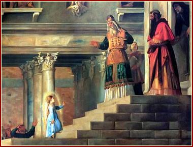 La Niña María en su Presentación en el Templo de Jerusalen