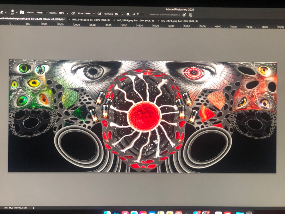 New canvas Terror Cell 120x50cm under construction
