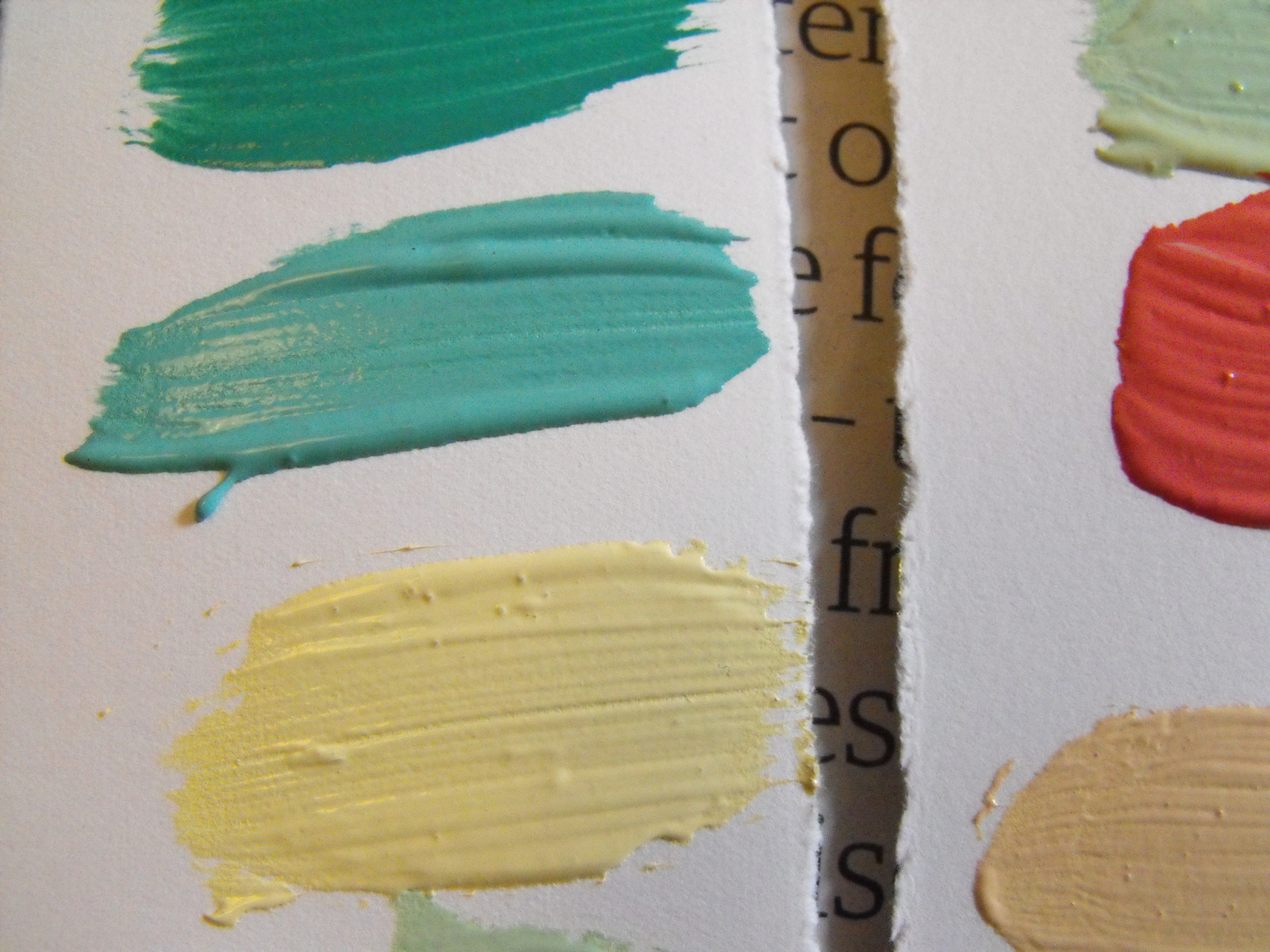 Mixing colours at a printmaking workshop