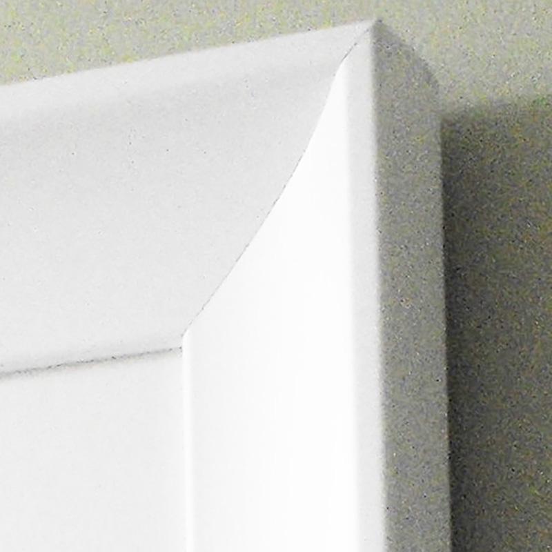White curved frame