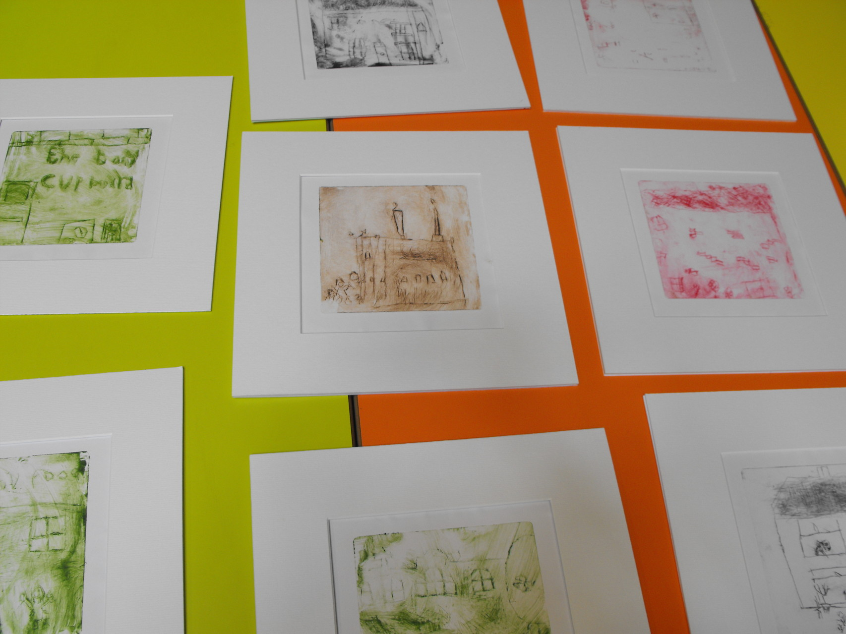 Drypoint etchings at a printmaking workshop