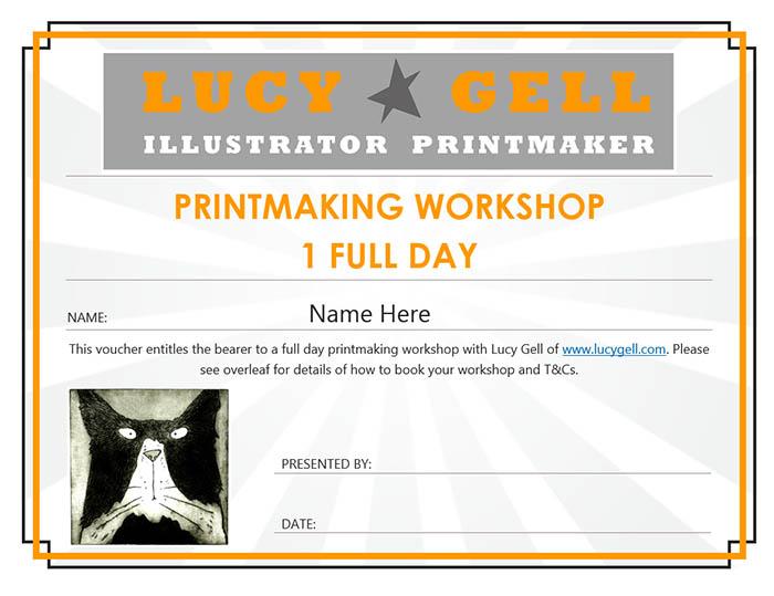 Voucher for Printmaking Workshop
