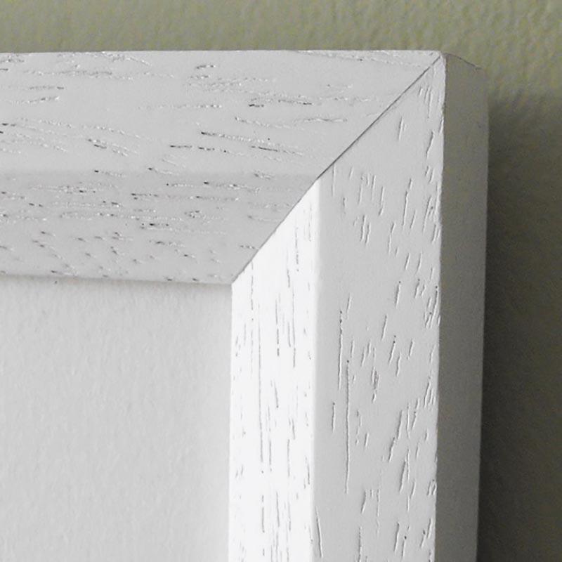 White bevelled frame