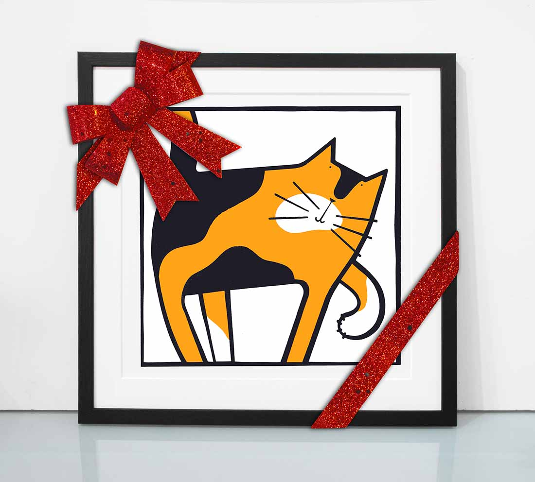 Cat Scratch - Tortoiseshell Cat Screenprint