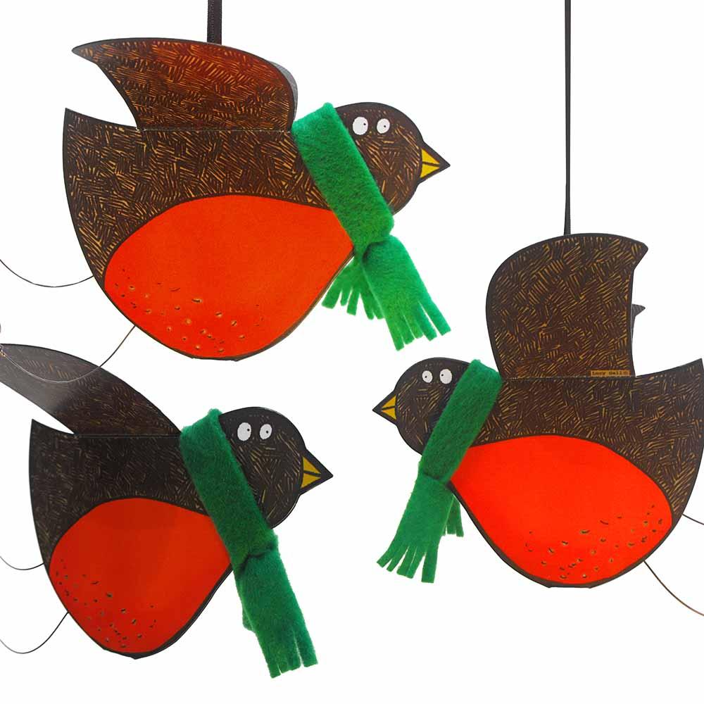 3D Hanging Robin Bird Cards