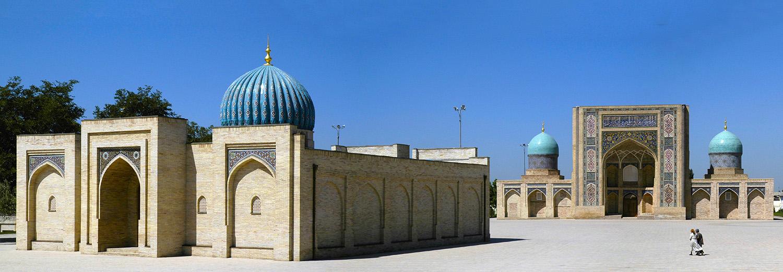 Samarkand, Hazrati Imam (mosquée Tellia Cheikh et medersa Barak Khan)