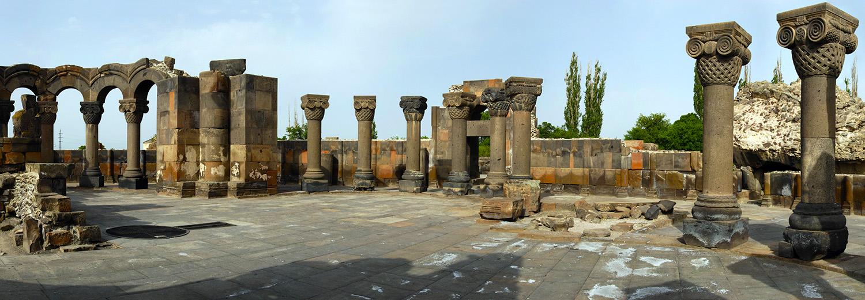 Zvartnots, ruines de la cathédrale