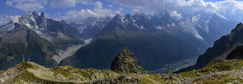 Haute-Savoie, Les Praz (l'Index, vue sur le massif du Mt Blanc)