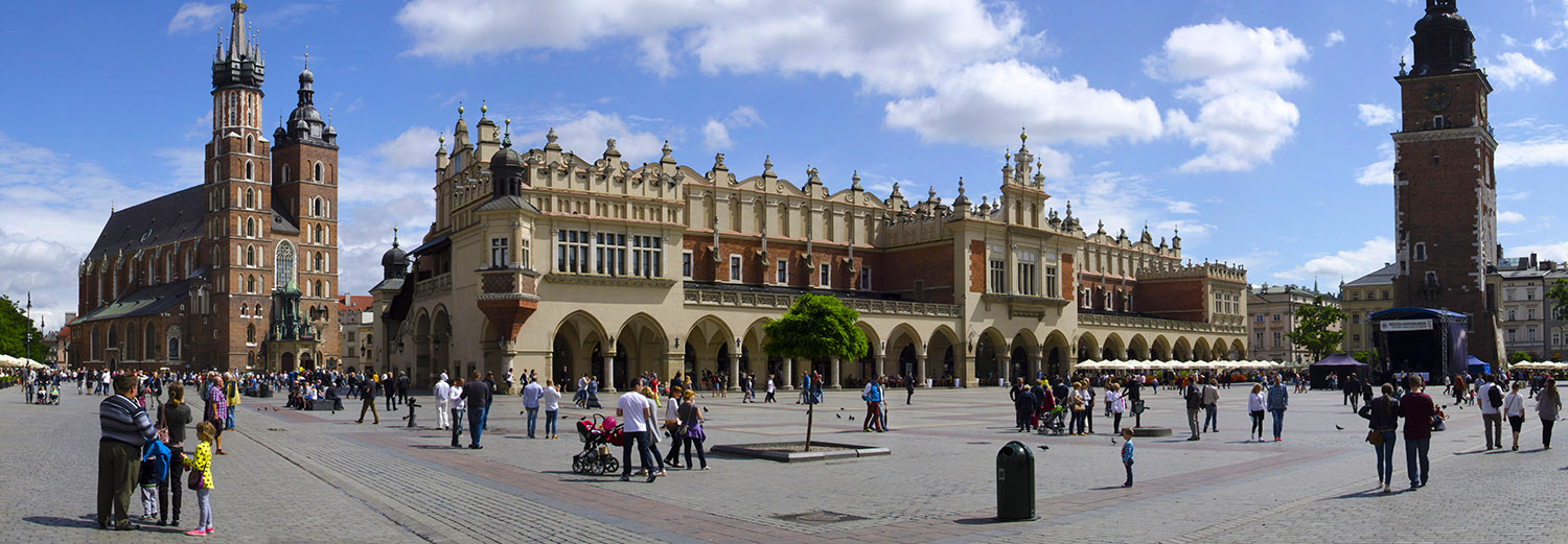 Cracovie, place du marché