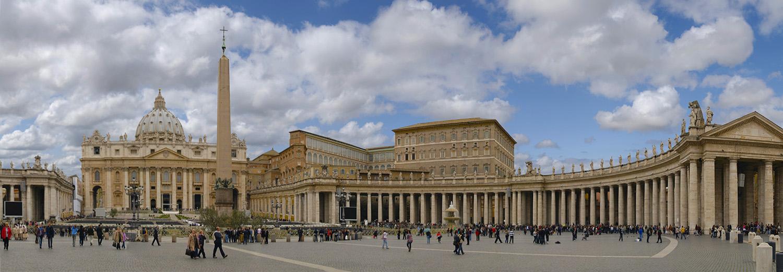 Vatican, basilique et place St Pierre