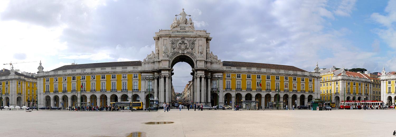 Lisbonne, Praça do Comercio (Arco da Victoria)