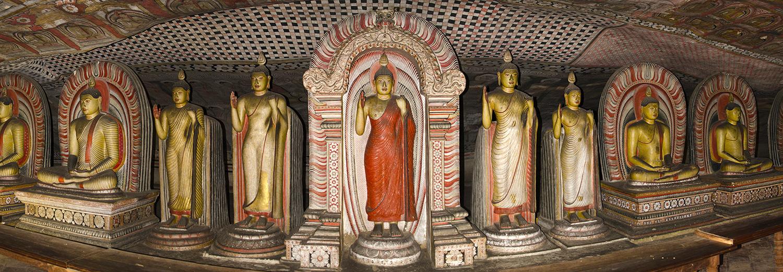 Dambulla, temples troglodytiques