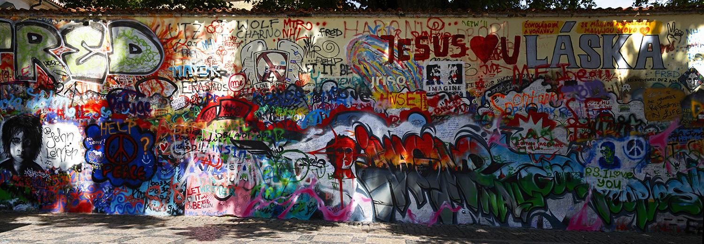 Prague, mur de John Lennon