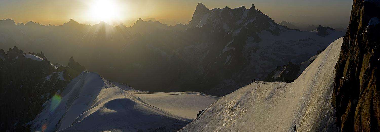 Haute-Savoie, Aiguille du Midi (Grandes Jorasses et dent du géant)