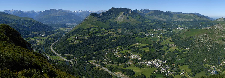 Vallée de Cauterets vue du pic du Jer