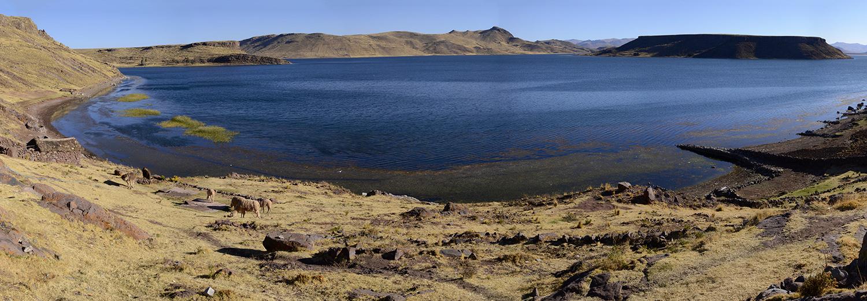 Sillustani, lac Umayo
