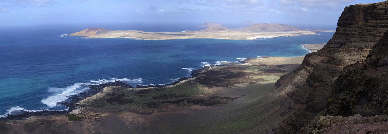 Lanzarote, Guinate (vue sur l'archipel Chinijo)