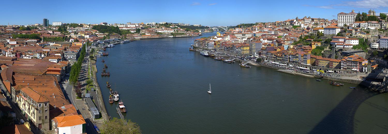 Porto, vu du pont de D. Luis