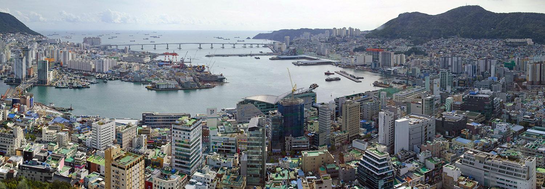 Busan, ville vue de la tour
