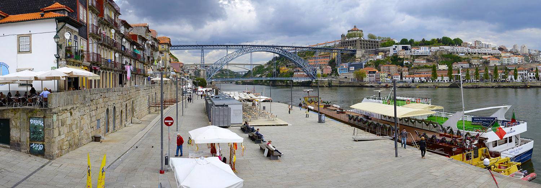 Porto, R. Cais Ribeira & Pont de D. Luis