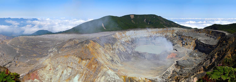 Volcan Poas, cratère principal