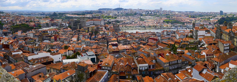 Porto, vu du sommet de la tour des clercs