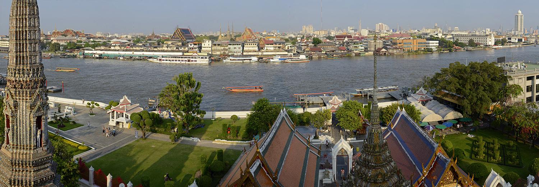 Bangkok vu du Wat Arun