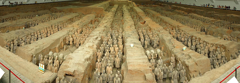 Xian, mausolée de l'empereur Qin