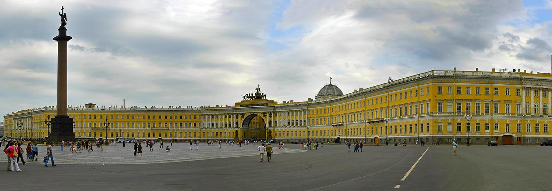 Saint Petersbourg, place du Palais