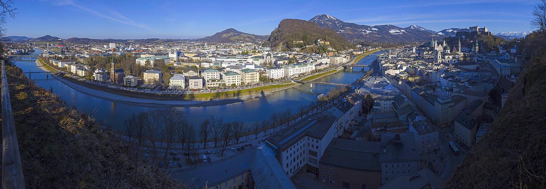Salzburg, vu de Mönchberg