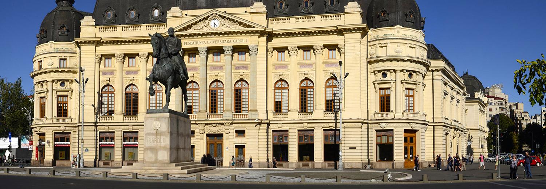 Roumanie, Bucarest (place de la révolution, bibliothèque universitaire)