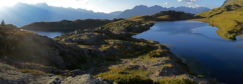 Alpe d'Huez, lac Besson et lac Noir