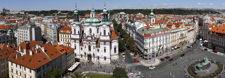 Prague, vu de la tour de l'horloge astronomique