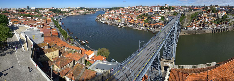 Porto, vu du mirador de Mosteiro da Serra do Pilar