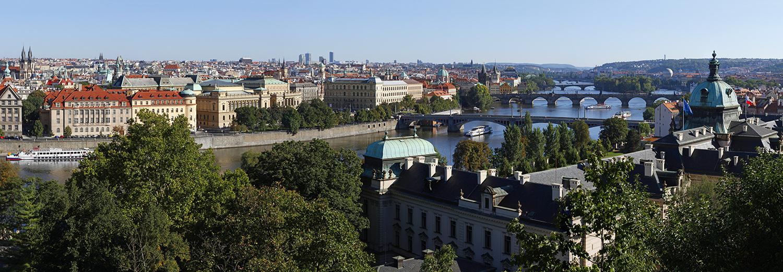 Prague, vu du parc Letna