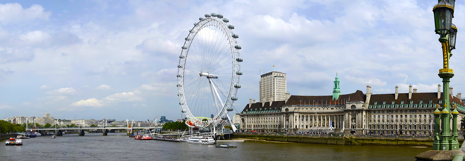 Londres, London Eye, aquarium et County Hall