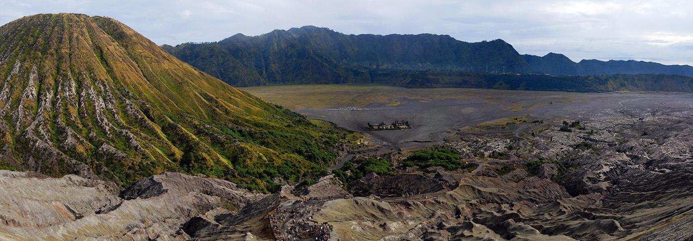 Java - Du mont Bromo, vue sur le Batok et la mer de sable