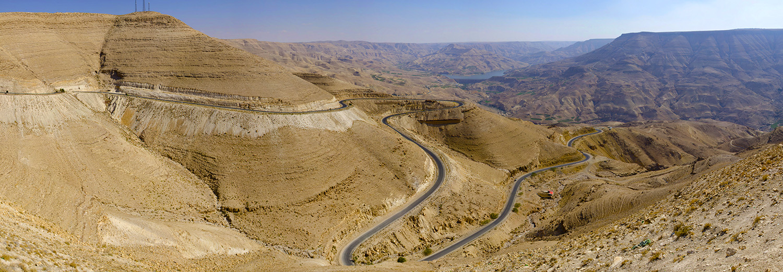Vallée et barrage Wadi Al Mujib