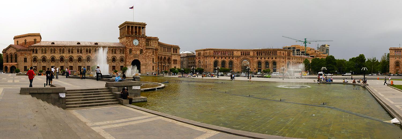 Yerevan, place de la république