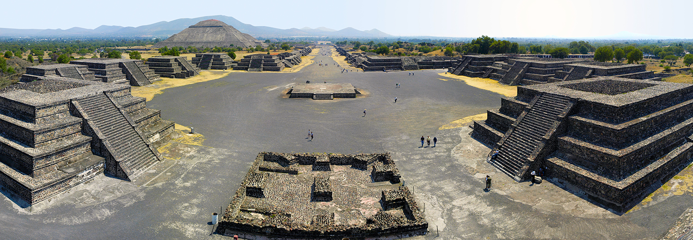 Teotihuacan, allée des morts & pyramide du soleil