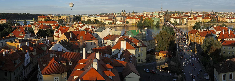 Prague, vu de la tour du pont Charles