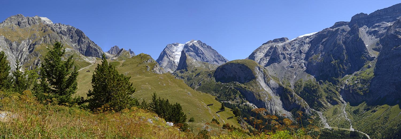 Pralognan-la-Vanoise, le mont Bochor, vue sur la Grande Casse (3855m)