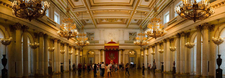 Saint Petersburg, musée de l'Hermitage (salle du trône)