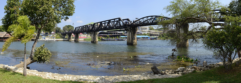 Kanchanaburi, pont de la rivière Kwai
