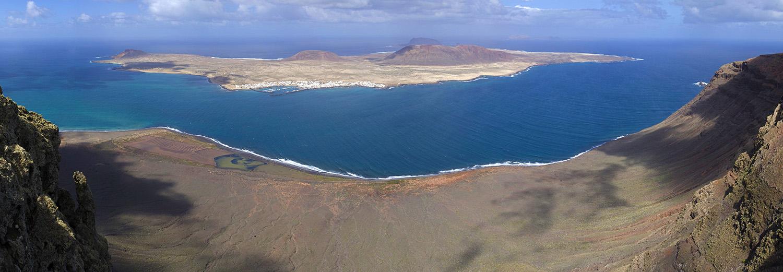 Lanzarote, Mirador del Rio (vue sur l'archipel Chinijo)