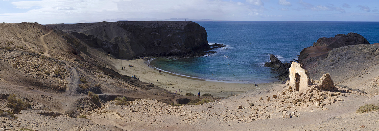 Lanzarote, Monument naturel Los Ajaches, Punta Papagayo