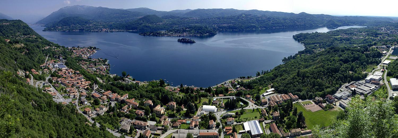 Lac d'Orta, vu du Santuario della Madonna del Sasso